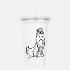 LG YORKIE OUTLINE Acrylic Double-wall Tumbler