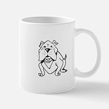 LG BULLDOG OUTLINE Mugs