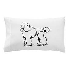 LG POODLE OUTLINE Pillow Case