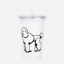 LG POODLE OUTLINE Acrylic Double-wall Tumbler