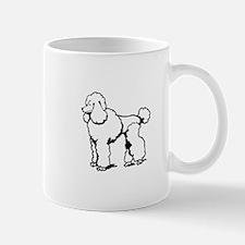 LG POODLE OUTLINE Mugs