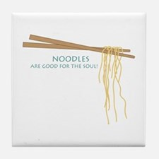 Noodles Are Good For The Slow! Tile Coaster