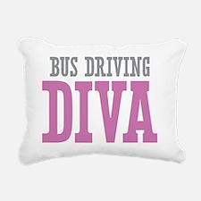 Bus Driving DIVA Rectangular Canvas Pillow
