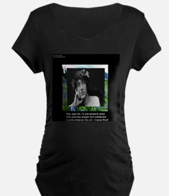 Virginia Woolf On Aging Maternity T-Shirt