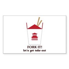 Fork It! Let's Got Take-Out Decal