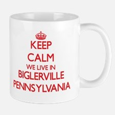 Keep calm we live in Biglerville Pennsylvania Mugs
