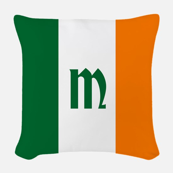 Team Ireland Monogram Woven Throw Pillow