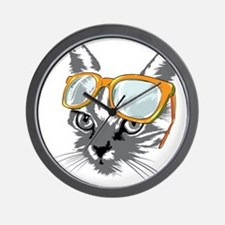 Cool Cat Hipster Wall Clock