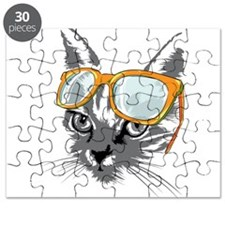Cool Cat Hipster Puzzle