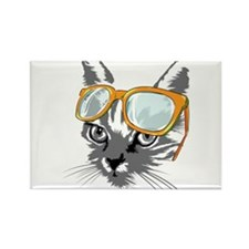 Cool Cat Hipster Magnets
