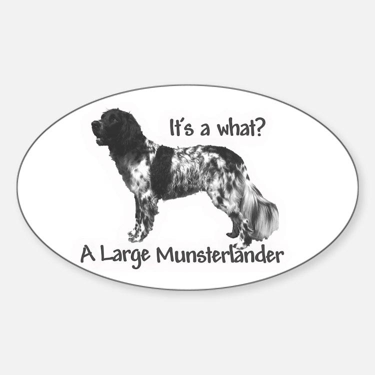 Munsterlander Oval Decal