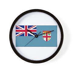 Fiji Fijian Blank Flag Wall Clock