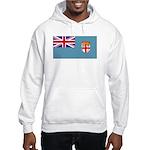 Fiji Fijian Blank Flag Hooded Sweatshirt