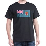 Fiji Fijian Blank Flag Dark T-Shirt