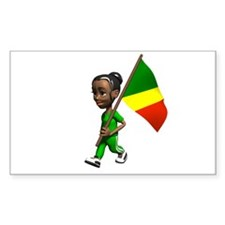 Congo Girl Rectangle Decal