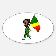 Congo Girl Oval Decal