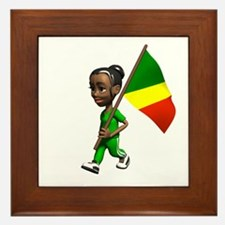 Congo Girl Framed Tile