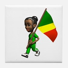 Congo Girl Tile Coaster