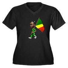 Congo Girl Women's Plus Size V-Neck Dark T-Shirt