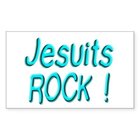 Jesuits Rock ! Rectangle Sticker