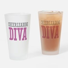 Cheerleading DIVA Drinking Glass