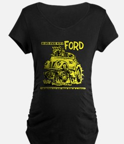 Eat Dirt vintage hot rod custom Maternity T-Shirt