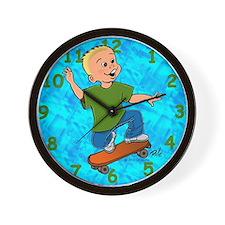 Skateboard Dude Wall Clock