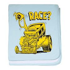 Race vintage hot rod custom car baby blanket