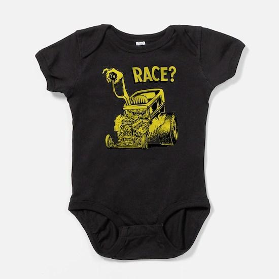 Race vintage hot rod custom car Baby Bodysuit