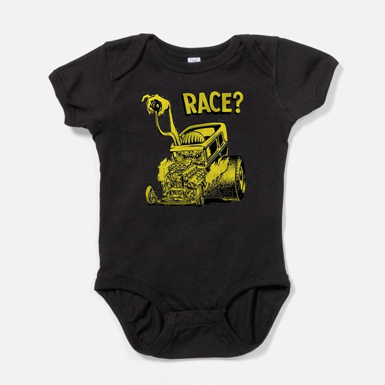 Race vintage hot rod custom car Baby Bodysuit