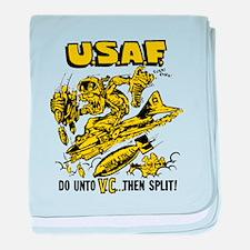 USA Vietnam War Propaganda baby blanket