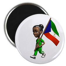 "Equatorial Guinea Girl 2.25"" Magnet (100 pack)"