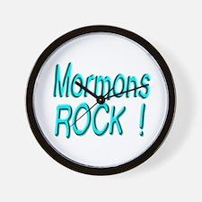 Mormons Rock ! Wall Clock