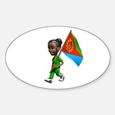 Eritrea Girl Oval Decal