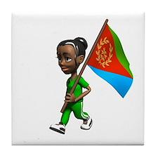 Eritrea Girl Tile Coaster