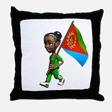 Eritrea Girl Throw Pillow