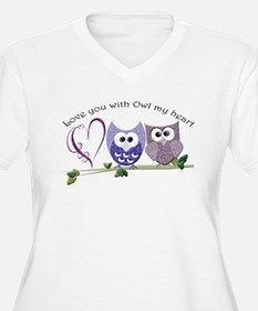 Love you with Owl my heart Plus Size T-Shirt