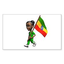 Ethiopia Girl Rectangle Decal