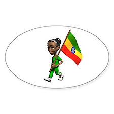 Ethiopia Girl Oval Decal