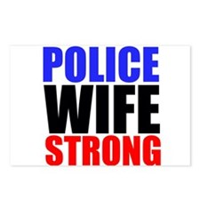Police Wife Strong Postcards (Package of 8)