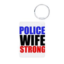 Police Wife Strong Keychains