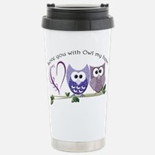 Love you with Owl my he Travel Mug