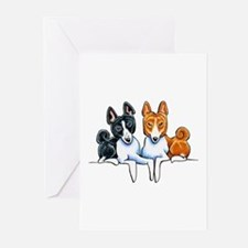 Basenji Buds Greeting Cards
