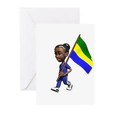 Gabon Girl Greeting Cards (Pk of 10)