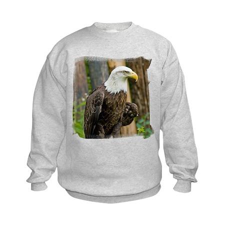 Bald Eagle Looking Kids Sweatshirt
