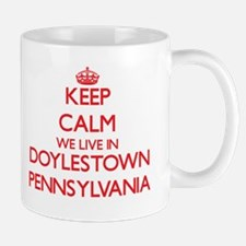 Keep calm we live in Doylestown Pennsylvania Mugs