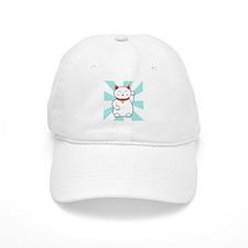 White Lucky Cat Baseball Baseball Cap