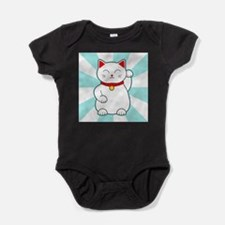 White Lucky Cat Baby Bodysuit