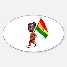 Ghana Girl Oval Decal