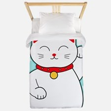 White Lucky Cat Twin Duvet